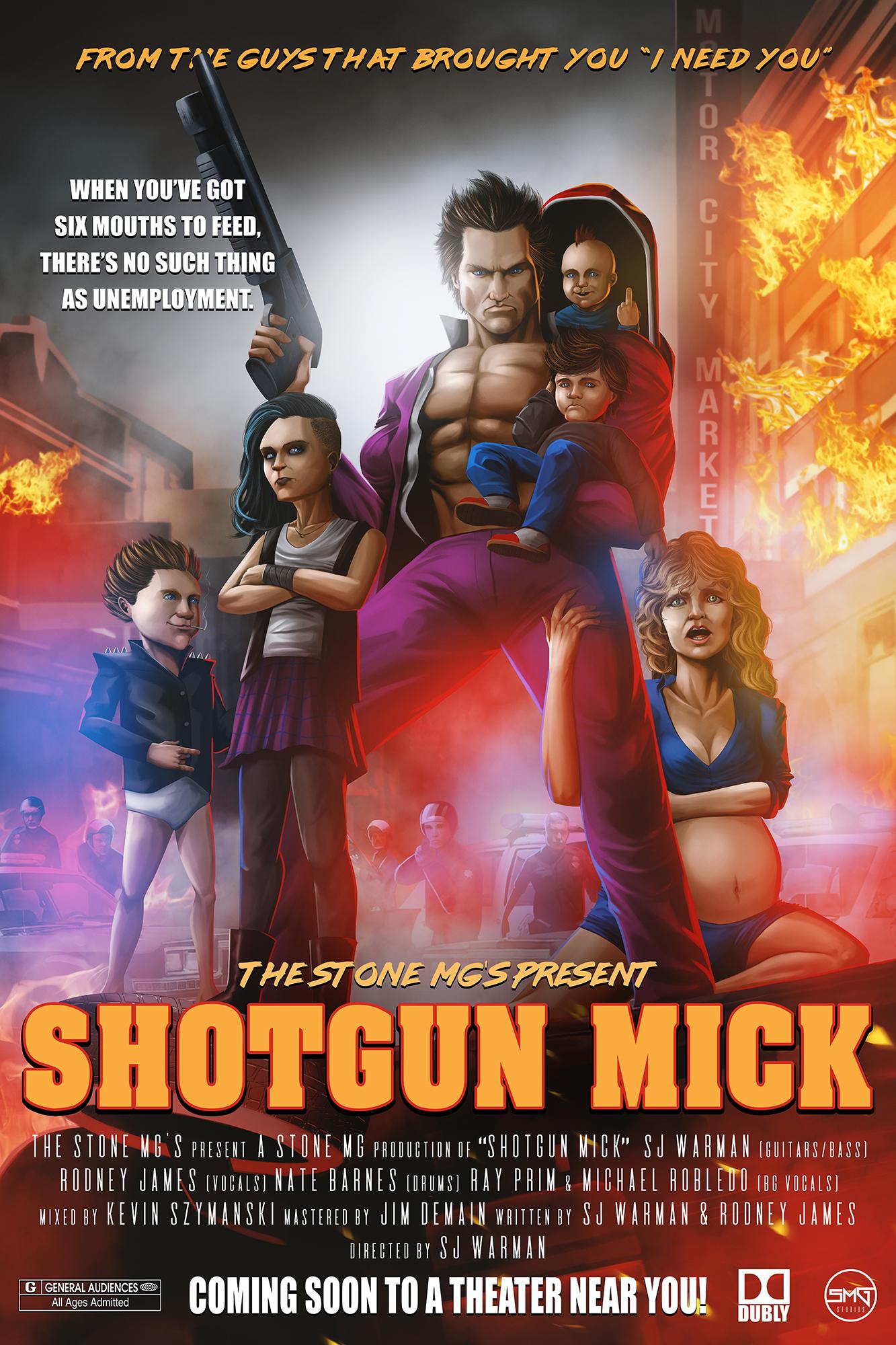 Shotgun Mick Poster The Stone MGs